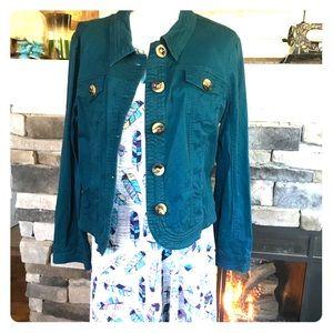 Teal dress barn Jean jacket